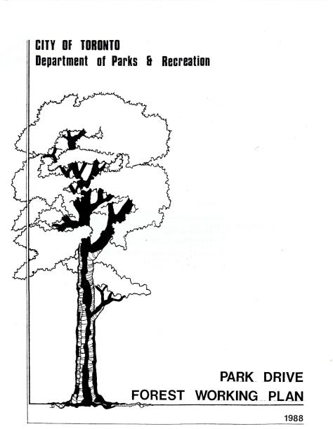 City of Toronto 1988 Park Drive Forest Working Plan