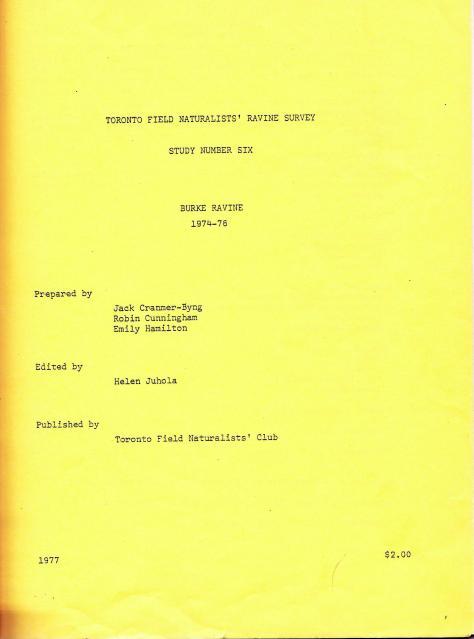 TFN 1974-76 Burke Ravine