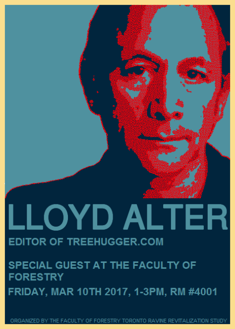 Lloyd Alter's Lecture March 10 2017