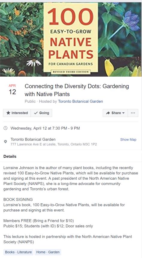 TBG Lecture Lorraine Johnson 20170412