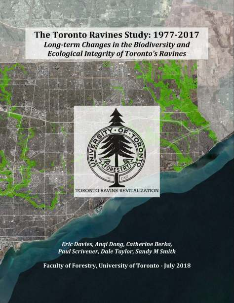 Toronto Ravines Study 1977 to 2017 cover